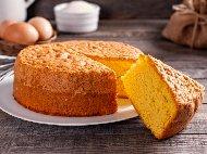 Пандишпанов кекс с яйца, царевично или пшеничено нишесте и бакпулвер (без брашно и без мляко)